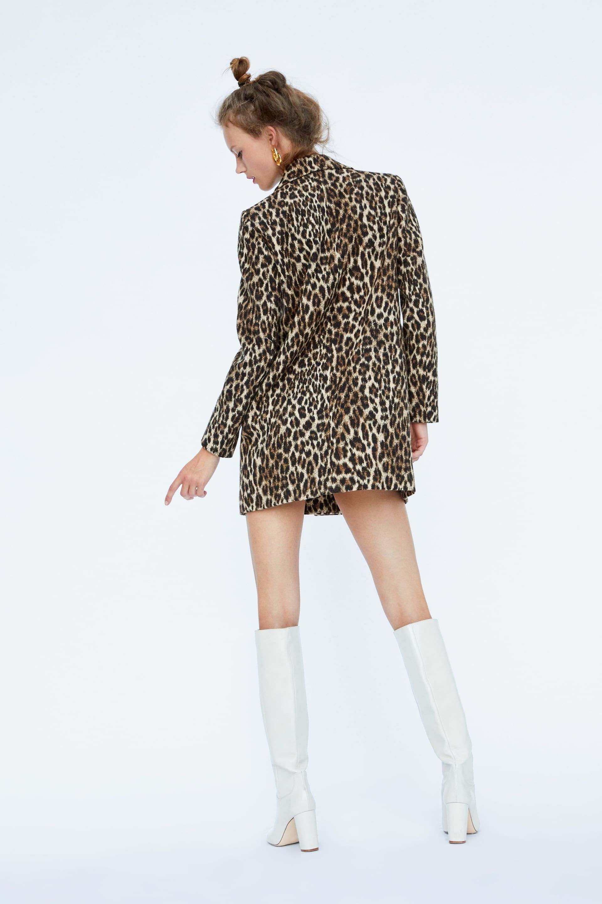 b5c707a44247 Image 4 of LEOPARD PRINT JACQUARD COAT from Zara   Affordable Charm ...