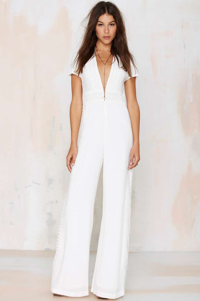 Wayward Stun Crochet Jumpsuit - White | Clothing and Style ...