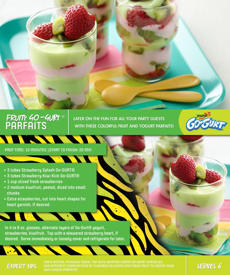 Use Go-GURT to make delicious layered parfaits! #gogurtparty