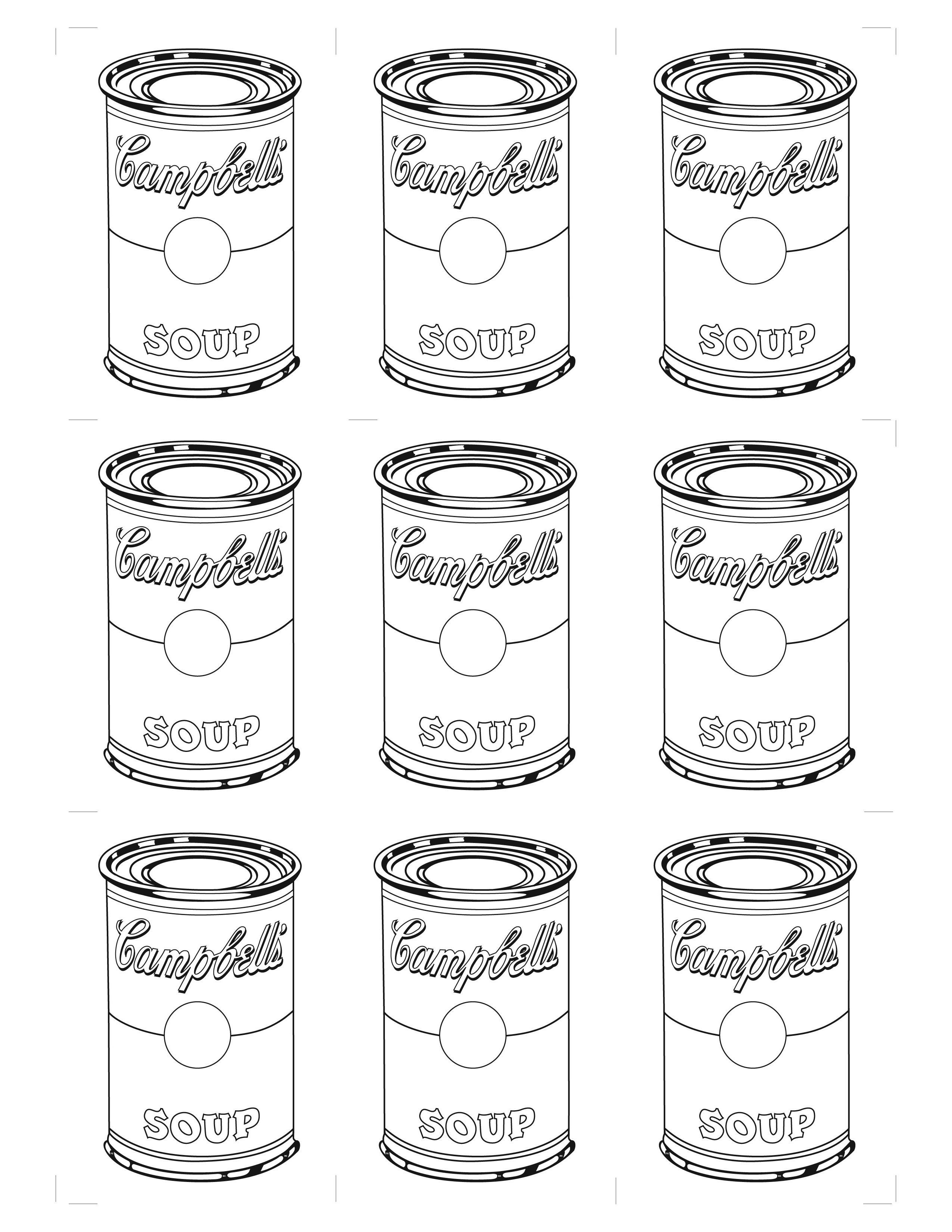 Download or print this amazing coloring page: Andy Warhol