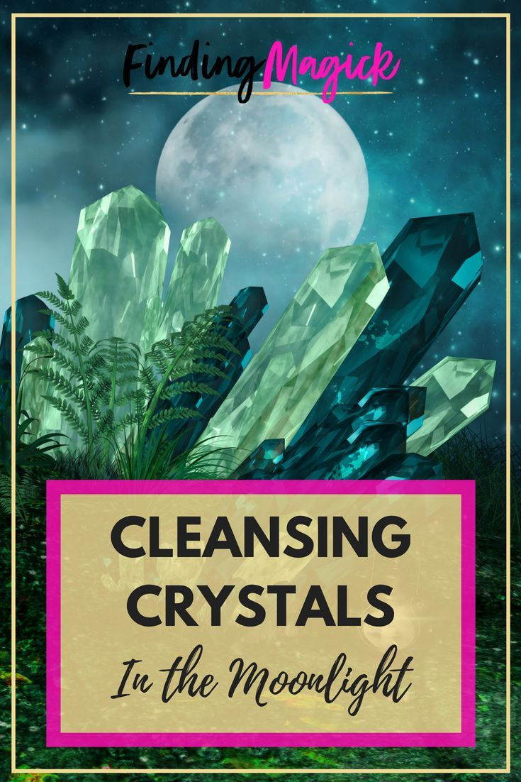 Cleansing crystals in the moonlight 5 easy steps