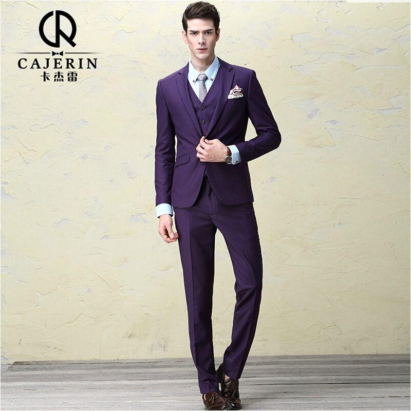 Cajerin Mens Suits Wedding Groom Dress Terno Masculino Slim Fit ...