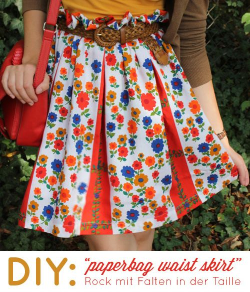 DIY: Paperbag waist skirt | tagtraeumerin | Röcke | Pinterest ...