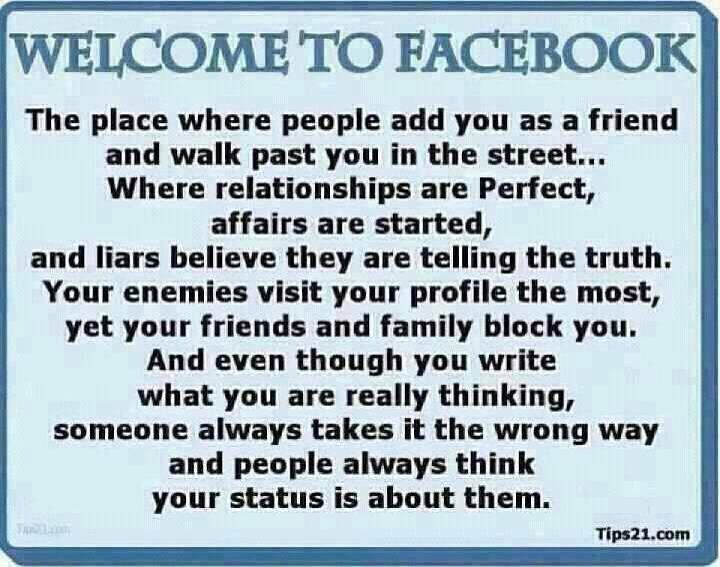 The True Meaning Behind Facebook This Says It All Words Of