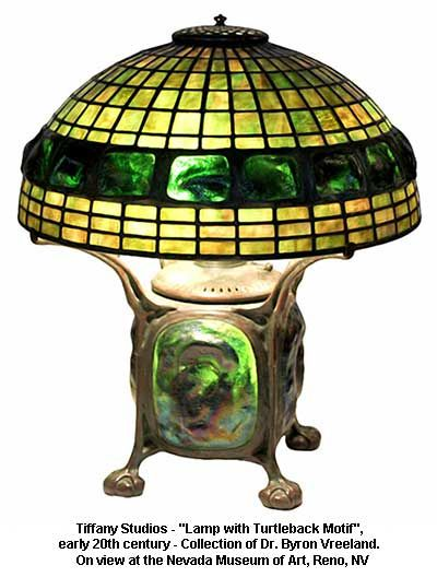 "Tiffany Studios - ""Lamp with Turtleback Motif"", early 20th century - Collection of Dr. Byron Vreeland."