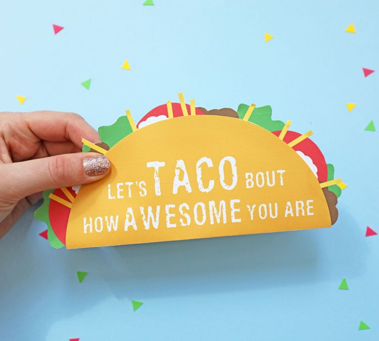 Taco Gift Card Holder Printable Gift Cards Diy Graduation Gifts
