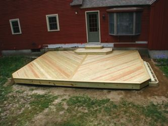 Lovely Deck+platform   Platform Ready For Decking Just Need To Complete Right Side  Steps At