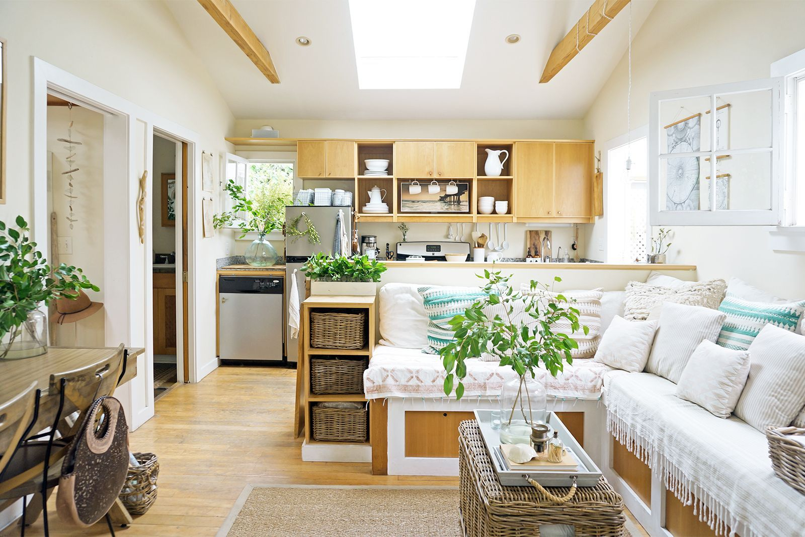 This tiny 362 square foot beach cottage is big on style for Large family living in small house