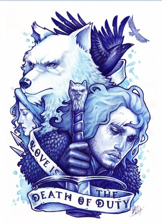 JON SNOW DinA4 PRINT Game of Thrones DinA4 by MedusaDollmaker