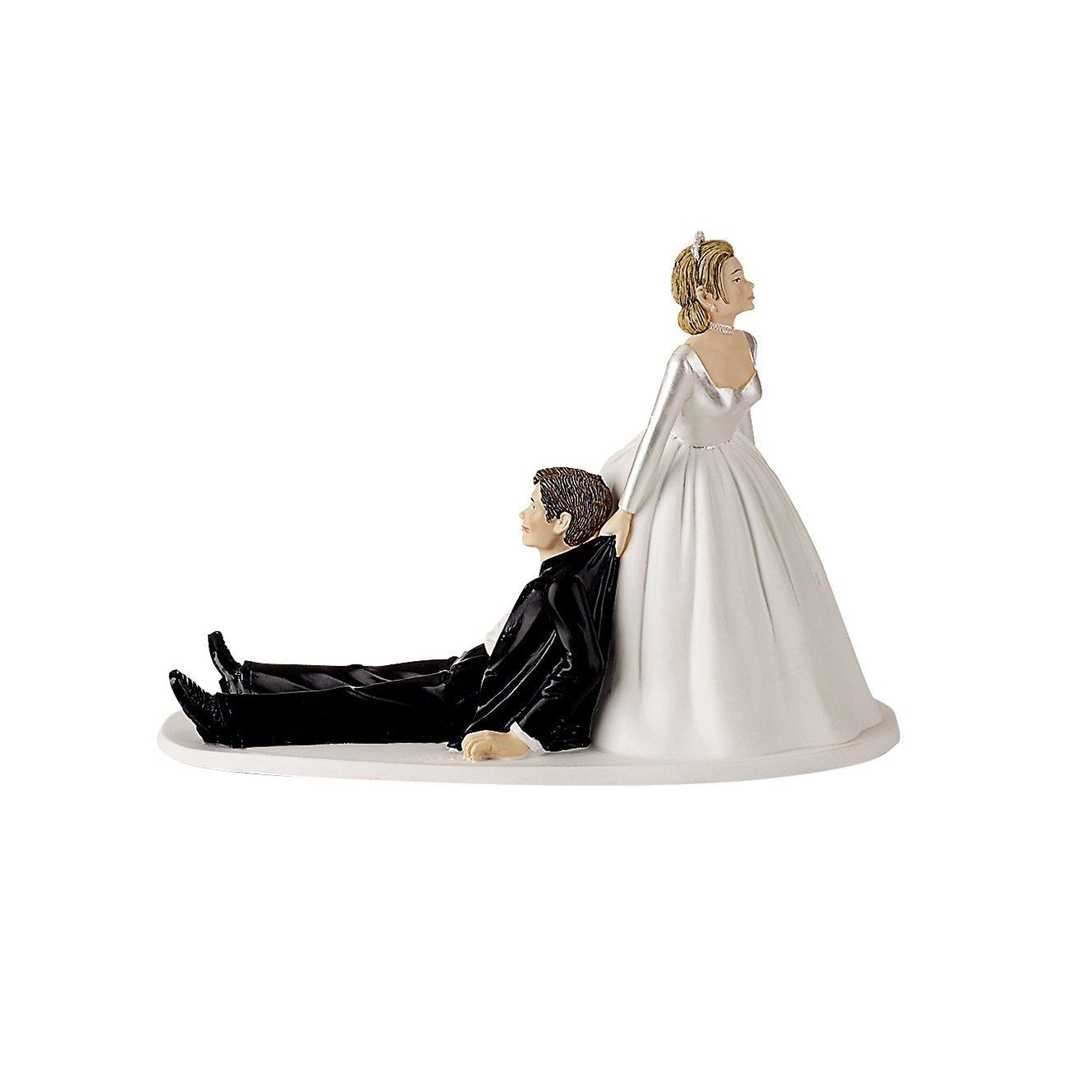 Groom dragged to wedding cake topper. $14. | Wedding Cake Toppers ...
