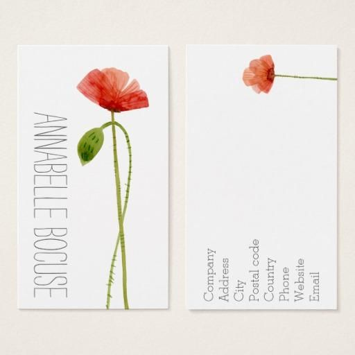 Zazzle zazzle watercolor poppies business card adorewe zazzle zazzle watercolor poppies business card adorewe reheart Choice Image