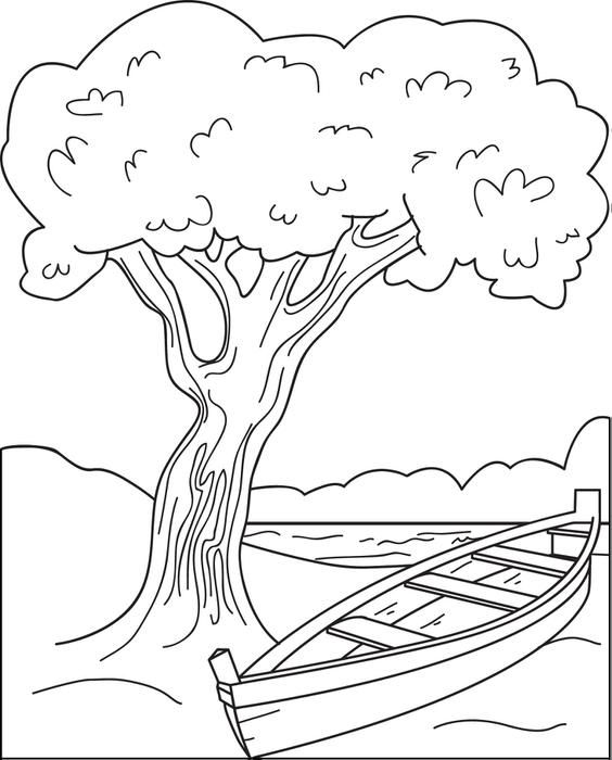 Canoe Coloring Page Coloring Pages Thanksgiving Coloring Pages