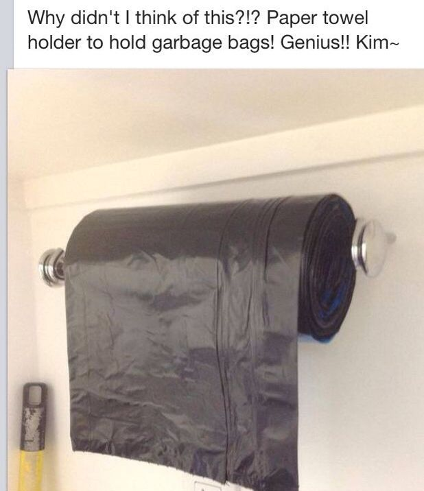 Storage idea for laundry room - keep these handy and on tap; OR put - idee de rangement garage