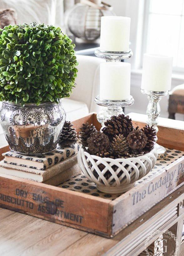 Sick Of Santa Here S How To Decorate Your Home After Christmas Coffee Table Centerpieces Coffee Table Vignettes Decorating Coffee Tables