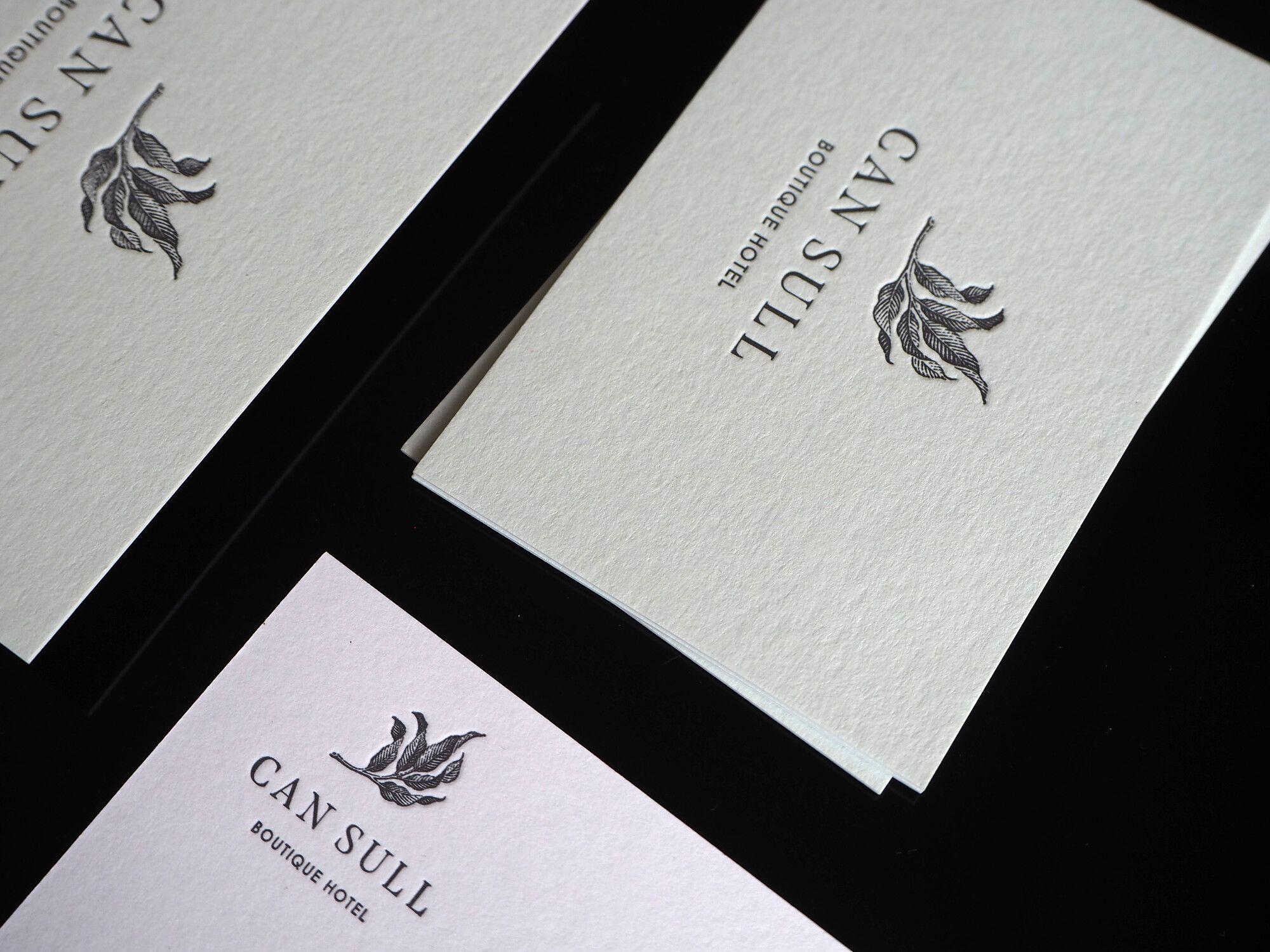 Letterpress Visitenkarten Drucktechnik Letterpress