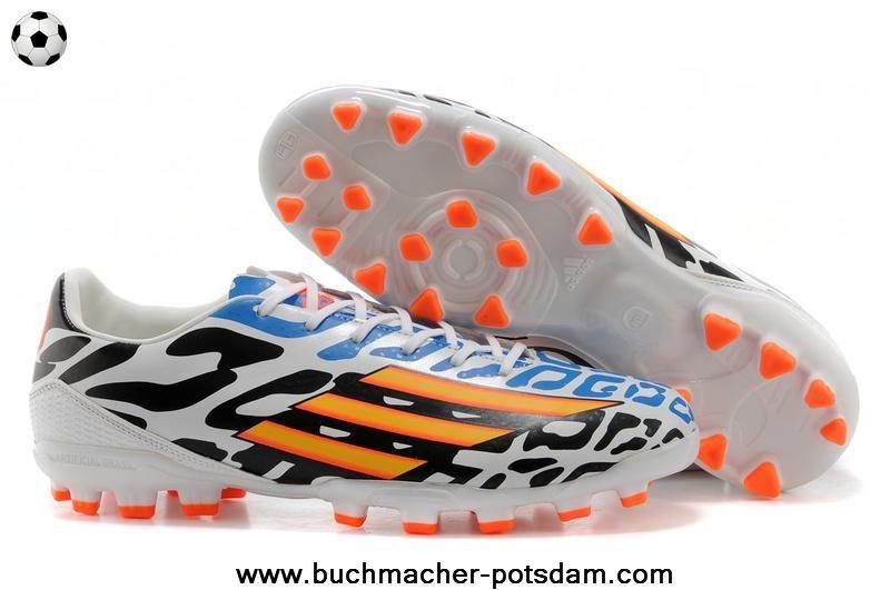 Authentic Adidas F50 AdiZero TRX AG (Black White Orange Blue ... 208284993