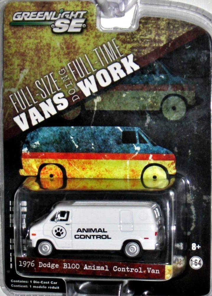 1976 Dodge B100 GREENLIGHT FULL-SIZE VANS Doing FULL-SIZE Work Series 1:64 scale #GreenLight #Chevrolet