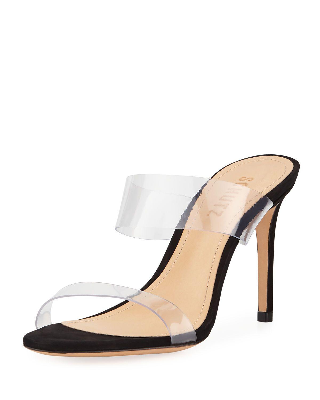 e0259c045cd Ariella Strappy See-Through Vinyl Slide Sandals in 2019   Fashion ...