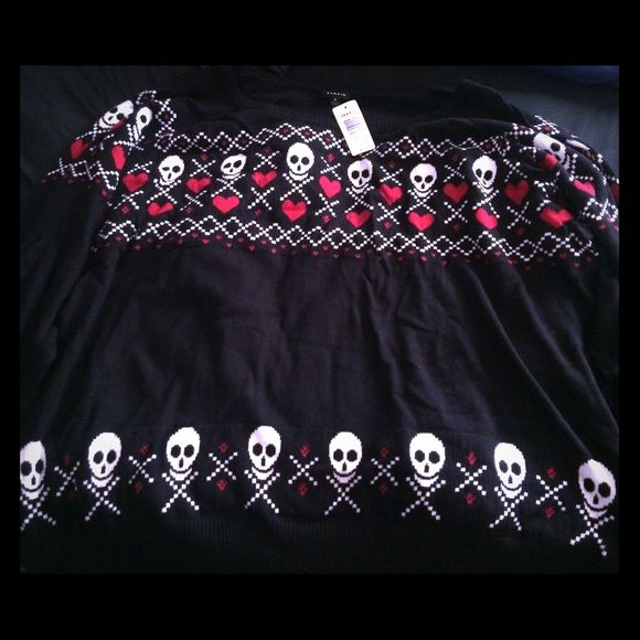 Torrid 5x Skull Sweater Never been used, new with tags skull sweater from Torrid. OFFERS WELCOME Torrid Sweaters