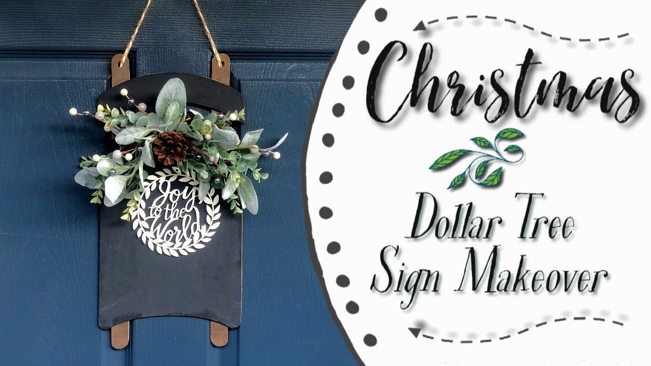 Dollar Tree Sled Christmas Dollar Tree Sign Makeover