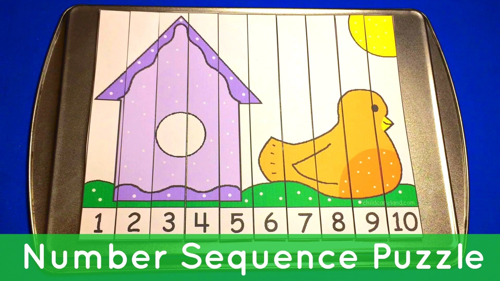 Birdhouse Number Sequence Puzzles Preschool Math
