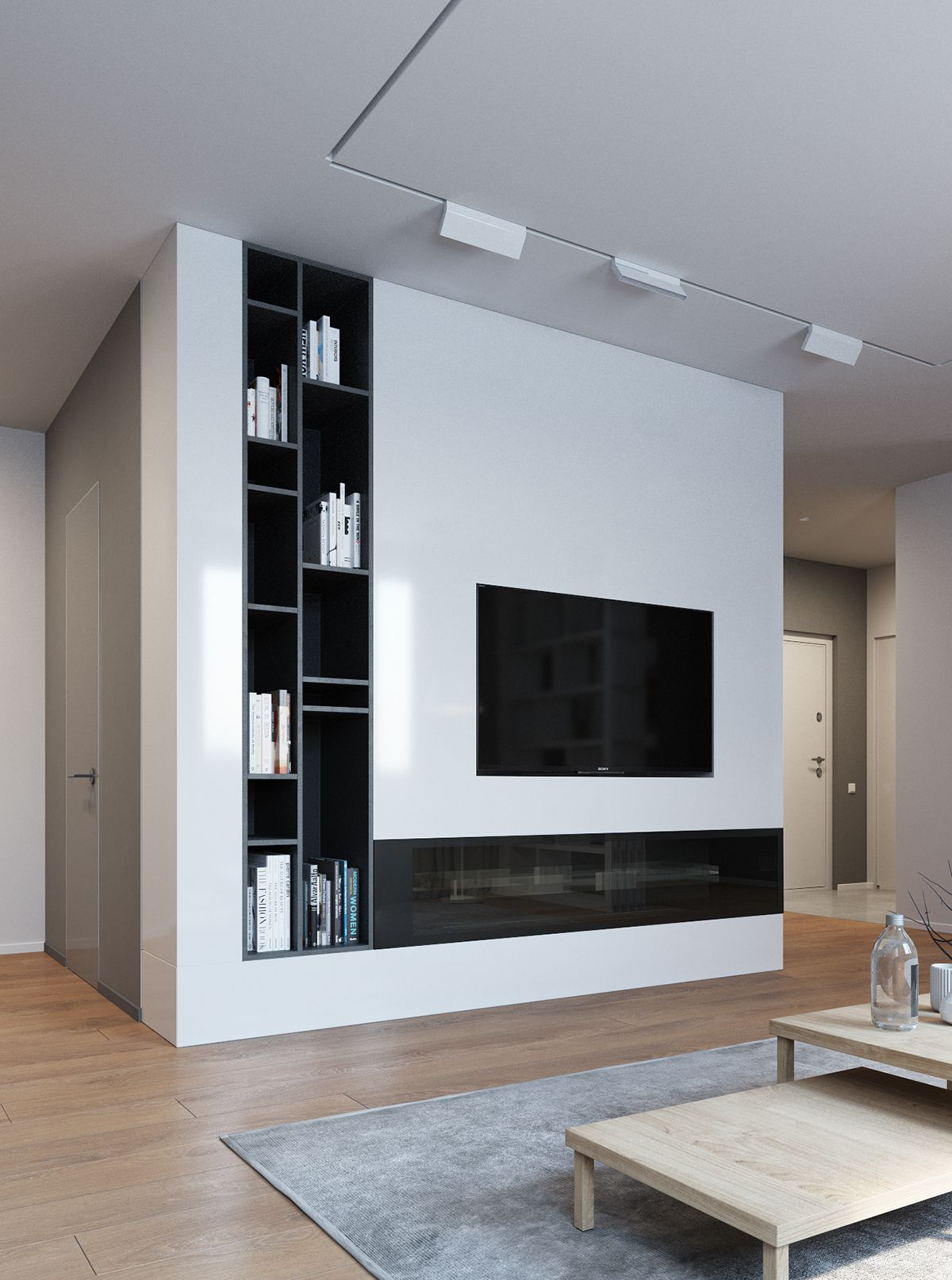 TV Wall Storage Elegant Contemporary And Creative Design Ideas