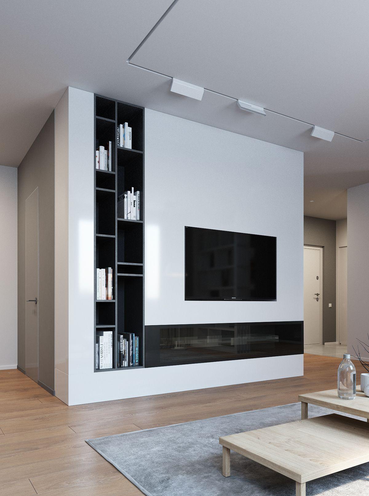 Сozy minimalism on Behance   Muebles de entretenimiento ...
