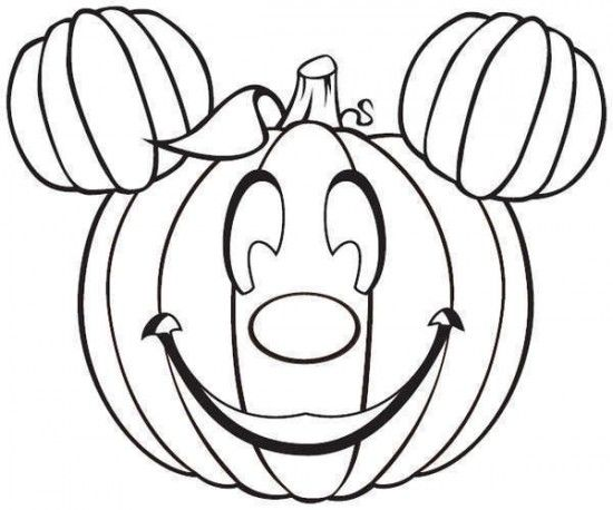 Mickey Mouse Pumpkin Coloring Pages 550x458 Picture Free