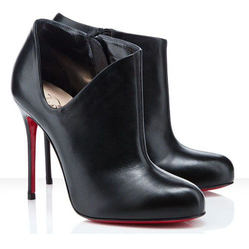 97f20f9969f Christian Louboutin Ankle Boots Black Lisse 100mm $185.00 http://www ...
