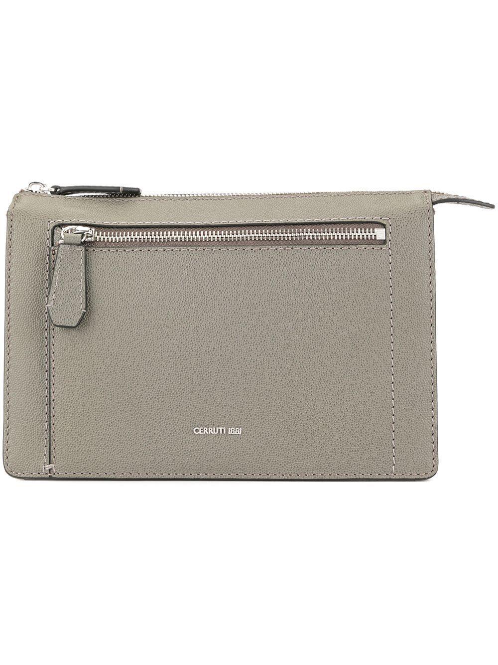 1567512b824 Cerruti 1881 zipped clutch bag - Grey in 2019   Products   Clutch ...