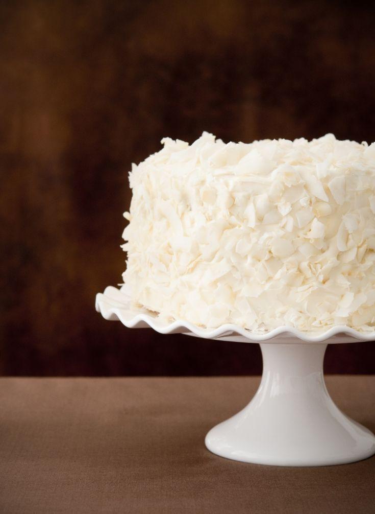 Kokosová torta s broskyňami