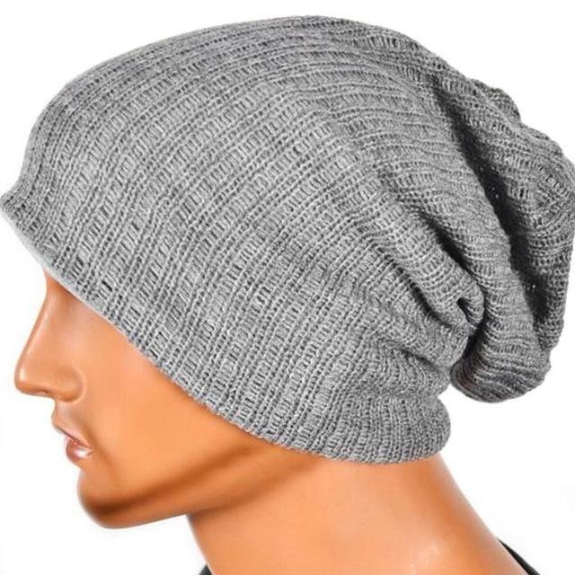 Men s Women s Knit Baggy Beanie Oversize Winter Hat Ski Slouchy Unisex Cap  Skull a238c5b37a41