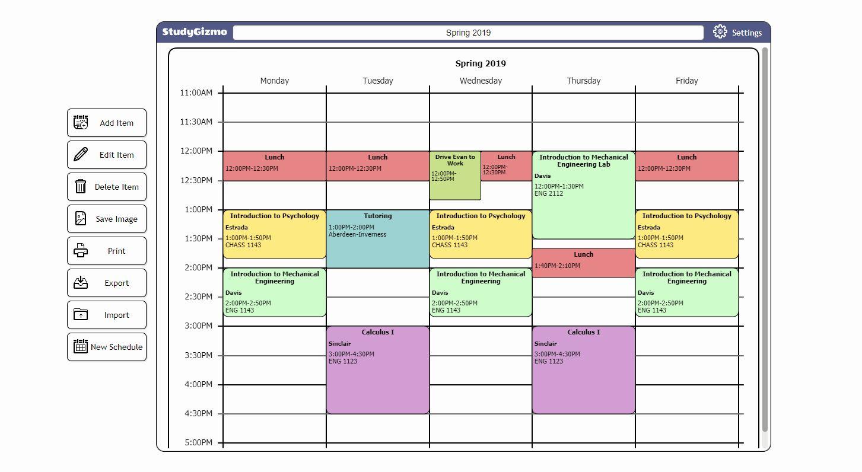 Free School Master Schedule Template Beautiful Workout Schedule Maker Class Schedule Template Schedule Template Schedule Maker