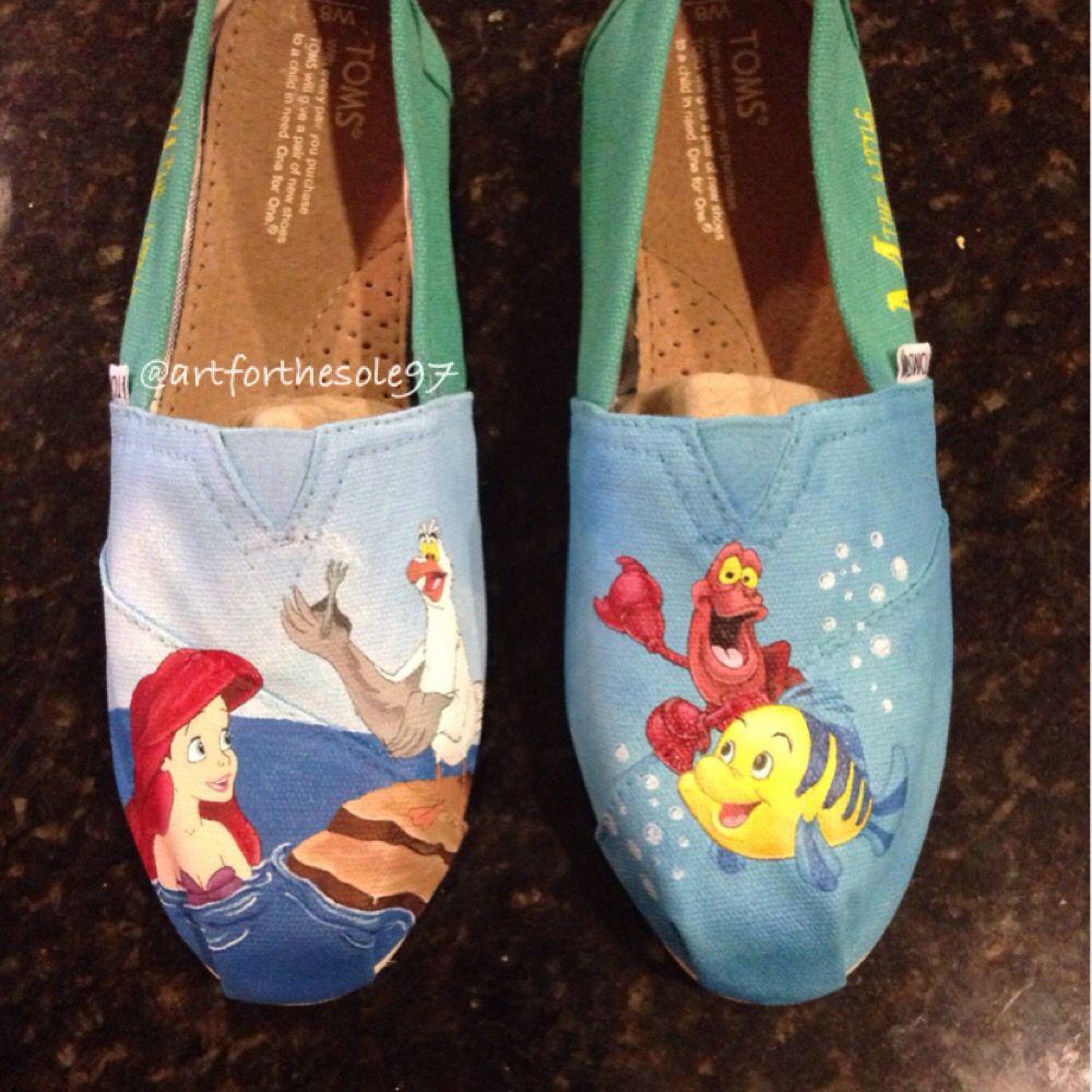 954721e33ff Little mermaid custom hand painted toms