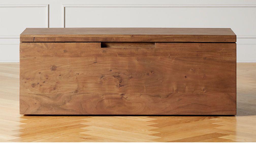 Acacia Wood Storage Bench Reviews Cb2 In 2021 Wood Storage Bench Wood Storage Acacia Wood