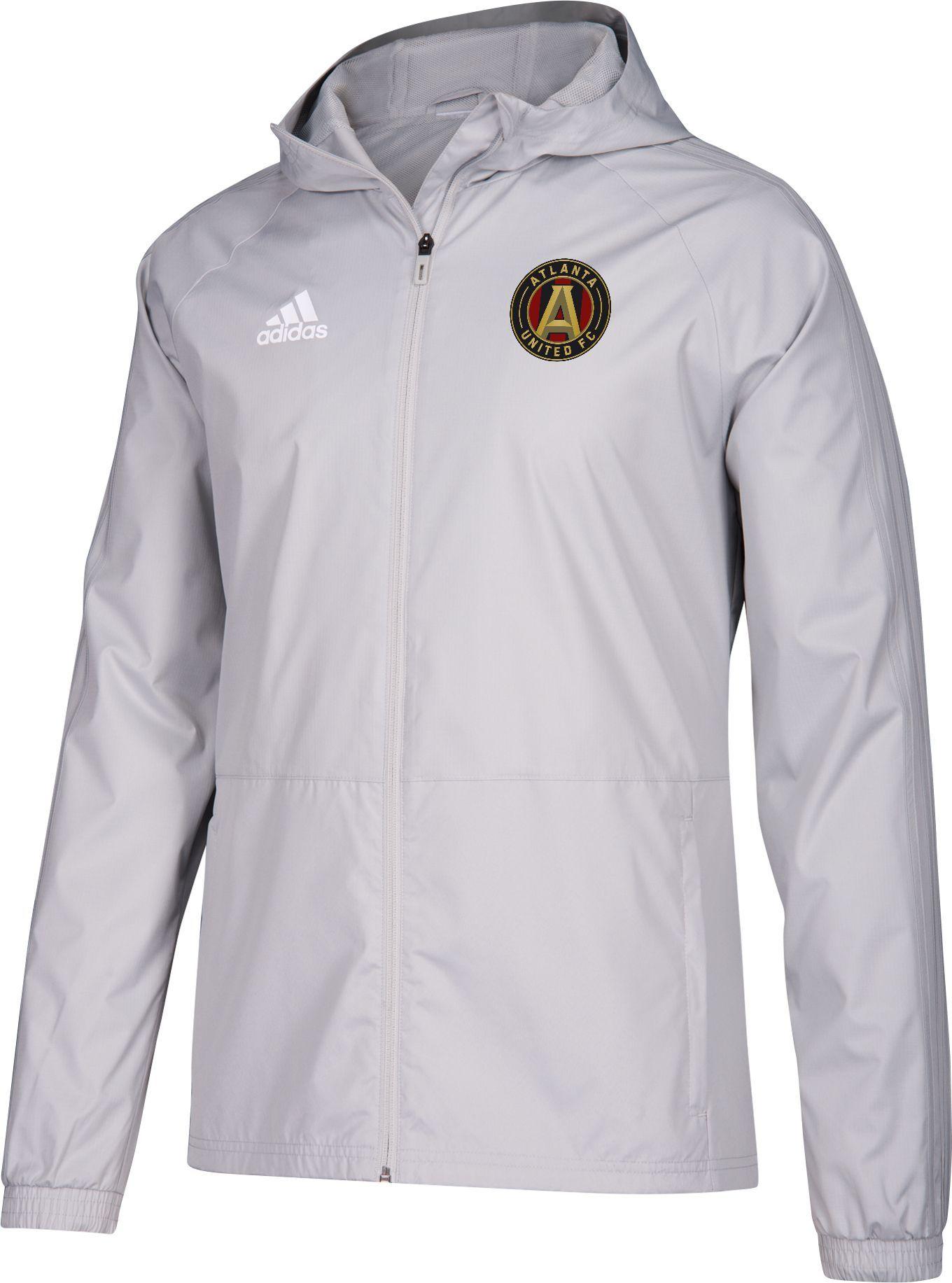 353d1b6053 adidas Men s Atlanta United Grey Rain Jacket