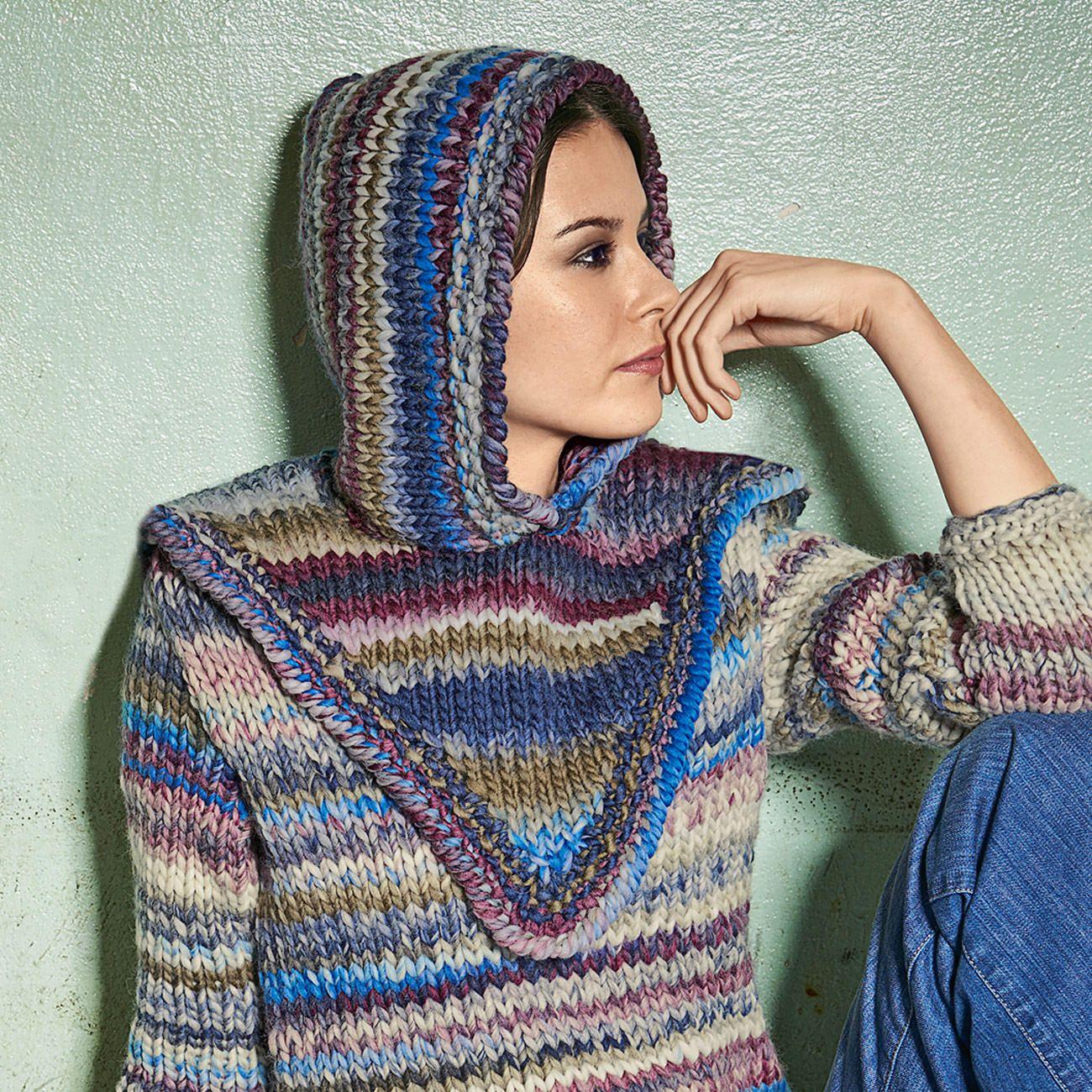 Modell 330/4, Kapuze aus Lei Color Mix von Lana Grossa | Anleitungen ...