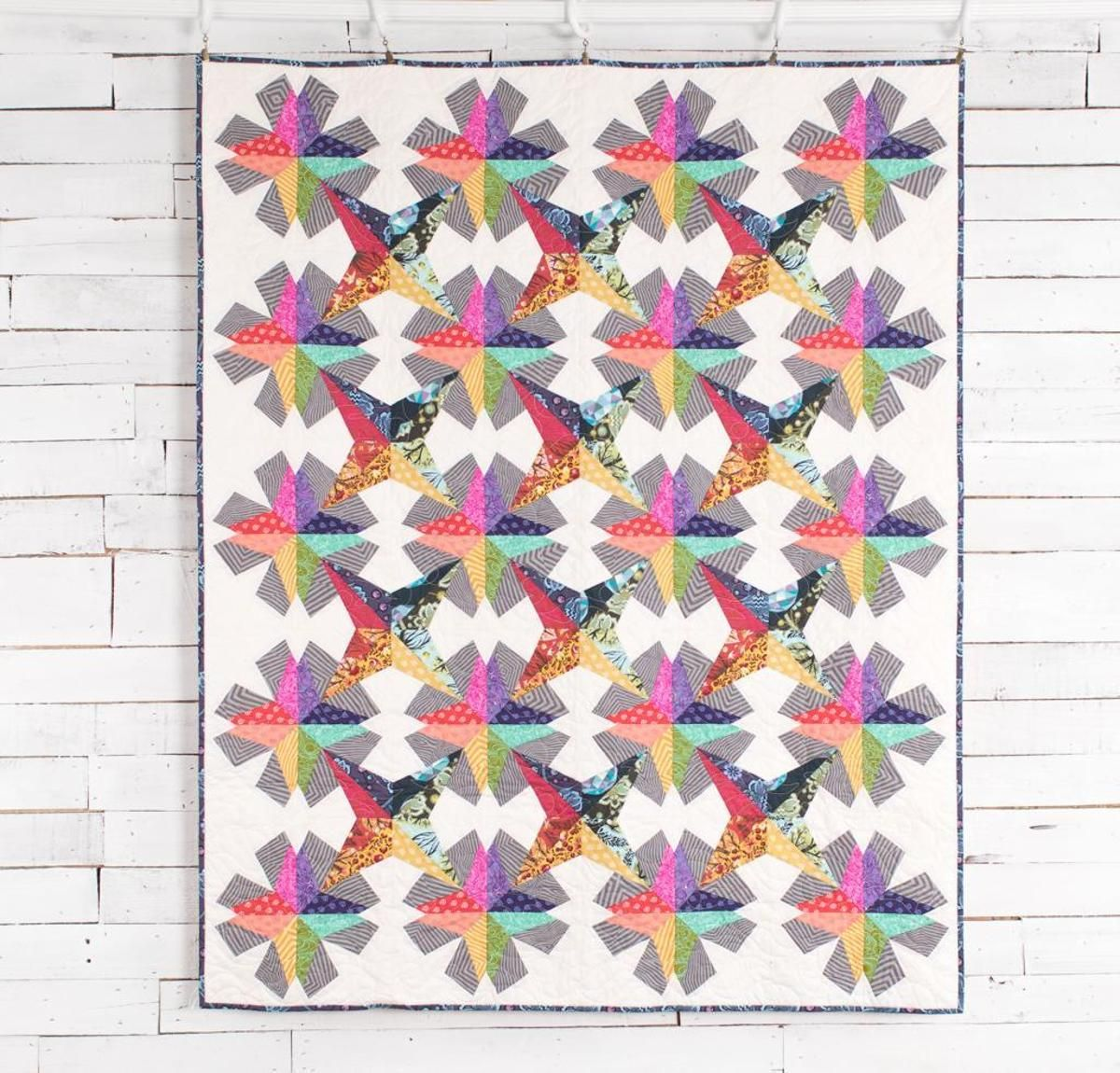 Spectrum Stars Quilt Kit by Tula Pink featuring FreeSpirit True Colors Fabric | Craftsy