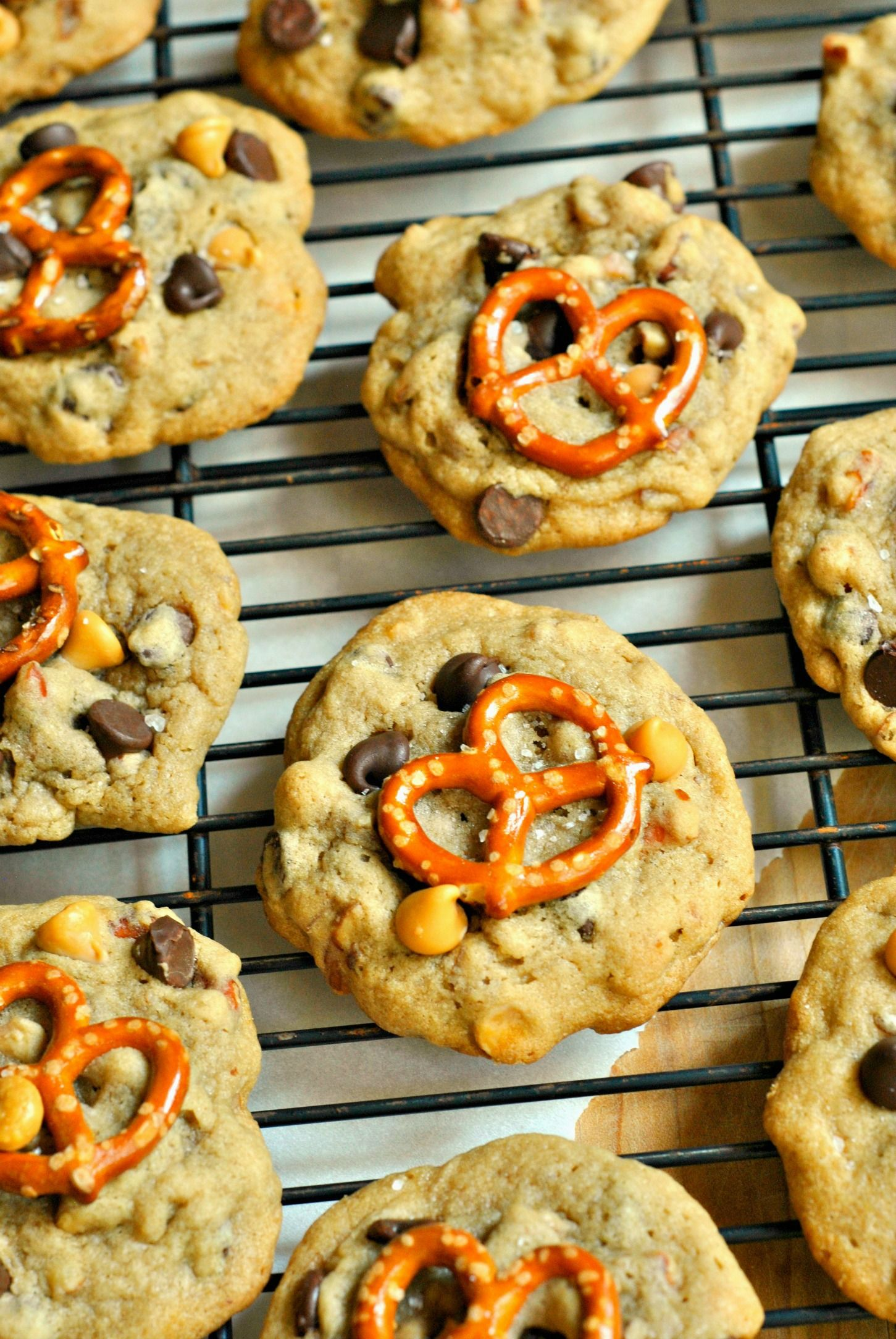 Salty Sweet Pretzel Butterscotch Cookies