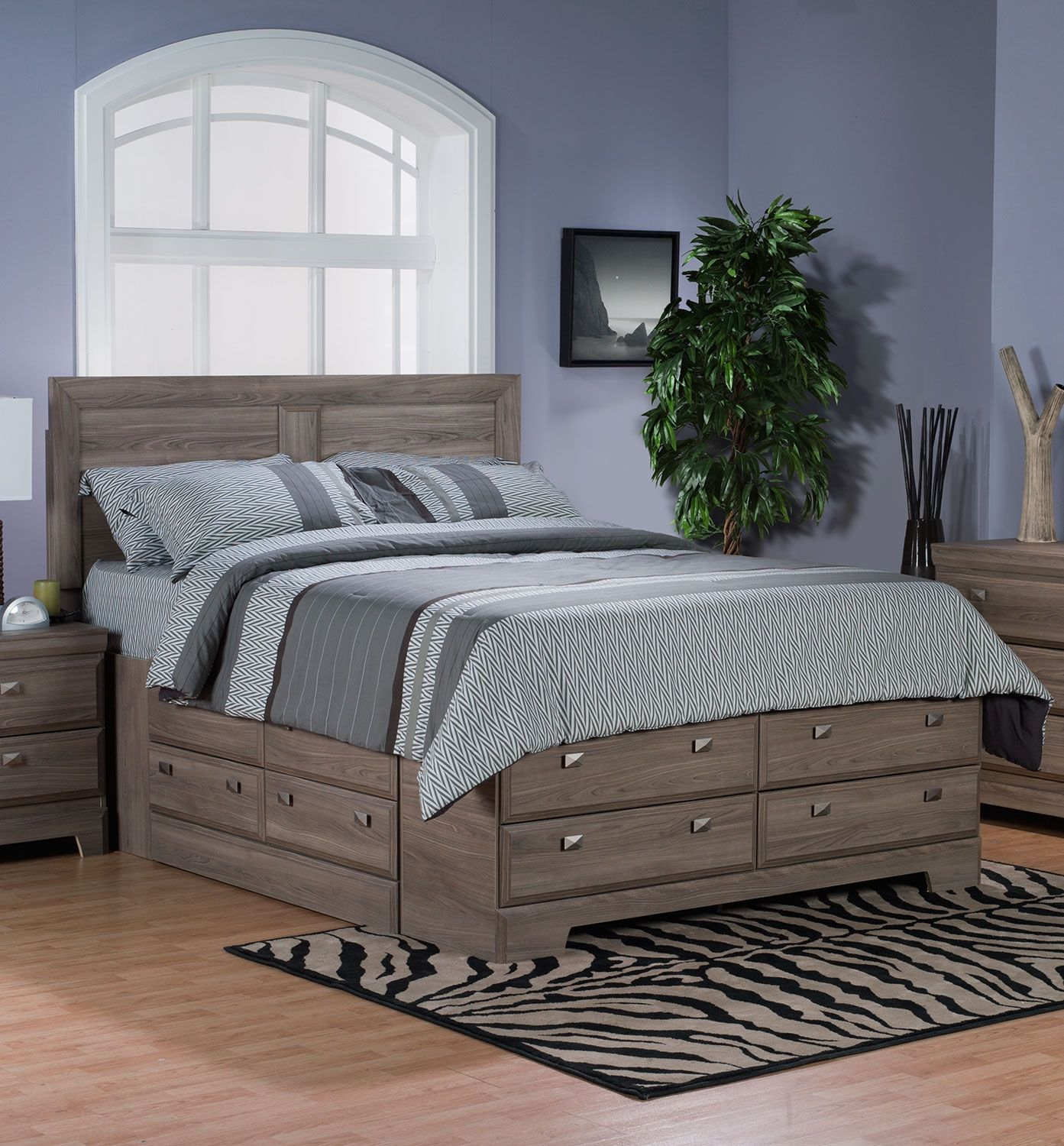Yorkdale Light Queen Storage Bed  Full bed with storage, Storage