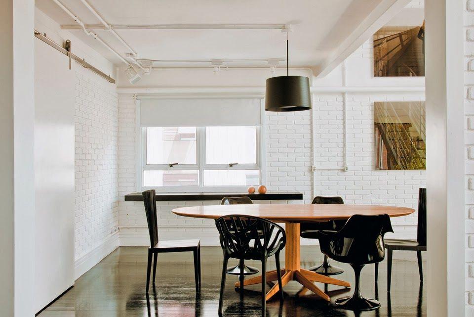 Salas de jantar em estilo contemporâneo