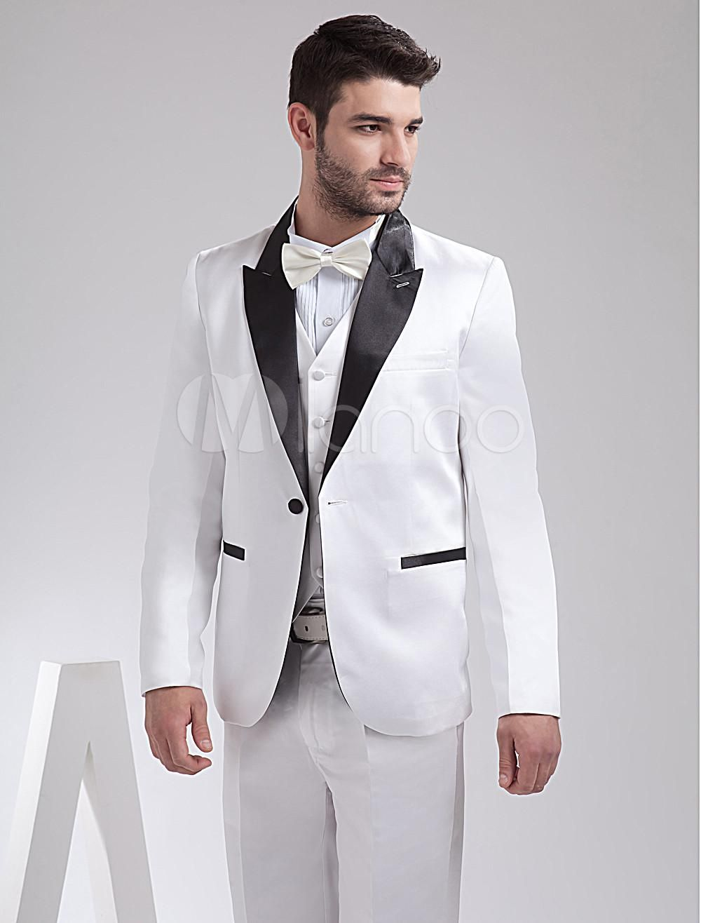Wedding Wedding Tuxedo 2014 new arrival gray wedding tuxedos for groom custom made suit white ocodea