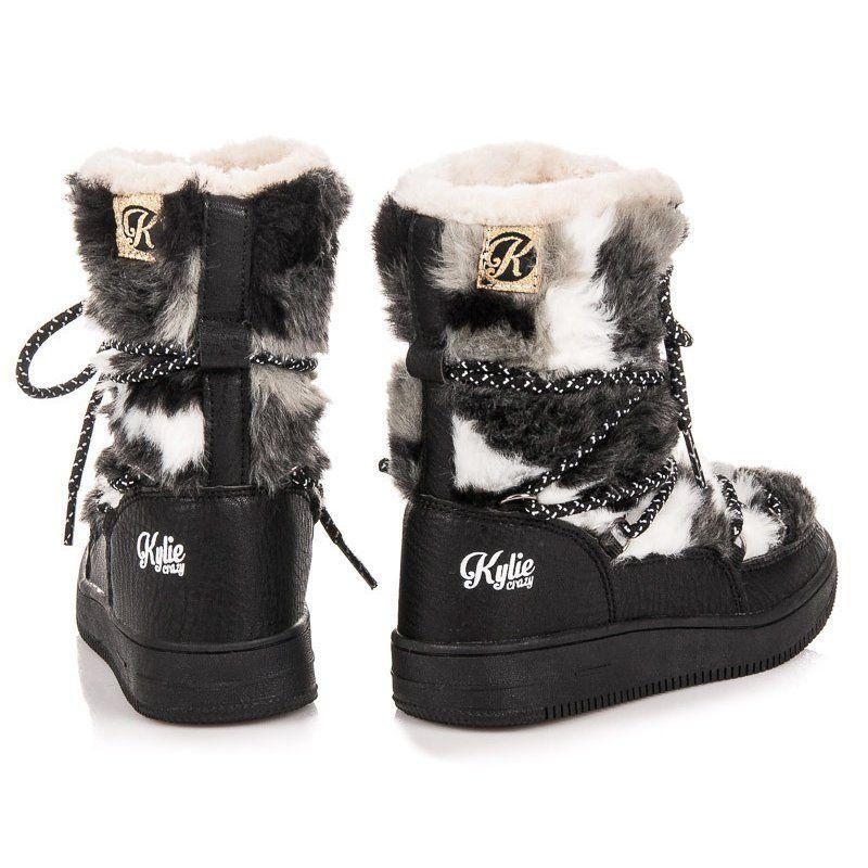 Kozaki Dla Dzieci Kylie Czarne Futrzane Sniegowce Kylie Boots Winter Boot Shoes