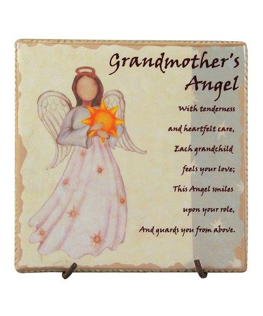 This 'Grandmother's Angel' Faithful Guardians Tile by About Face Designs is perfect! #zulilyfinds