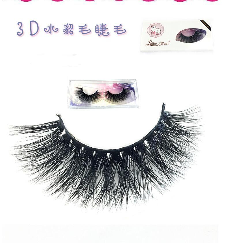e966b3f16ee Free shipping 1pair/lot 100% real siberian 3d mink fur strip false eyelash  long individual eyelashes mink lashes extension MK-08