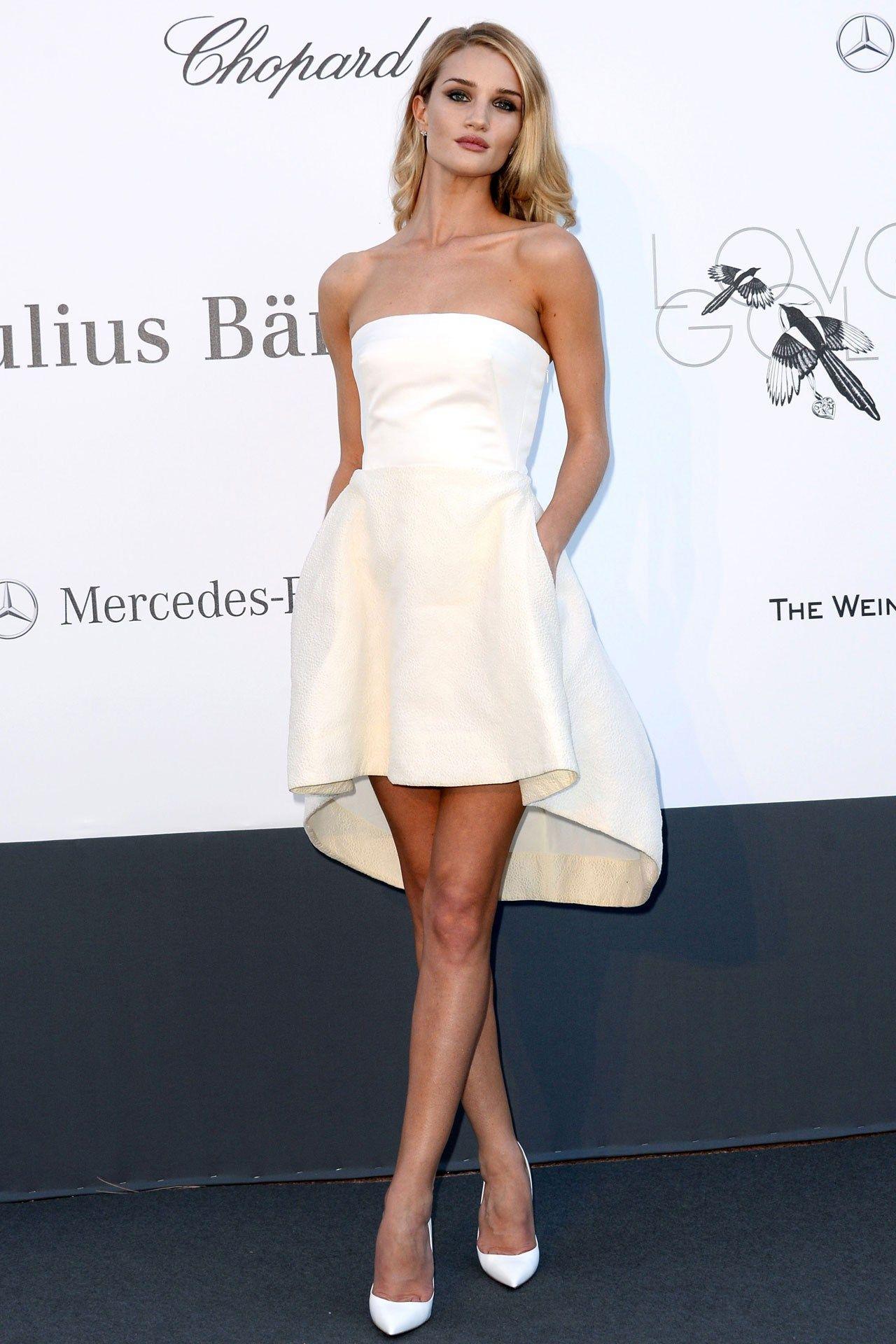 Rosie Huntington Whiteley Amfar Gala 2017 Dior Dress