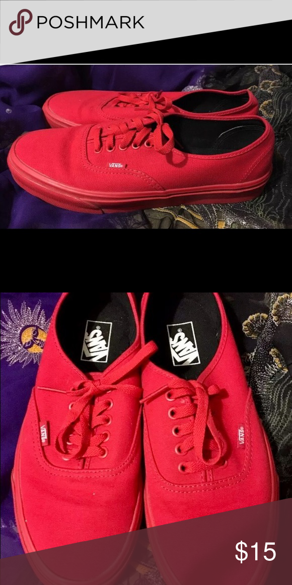 Vans Authentic Classic Red Canvas and