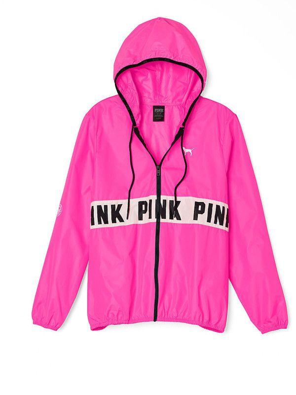 VS Pink anorak marble pastel Victoria secret windbreaker anorak ...
