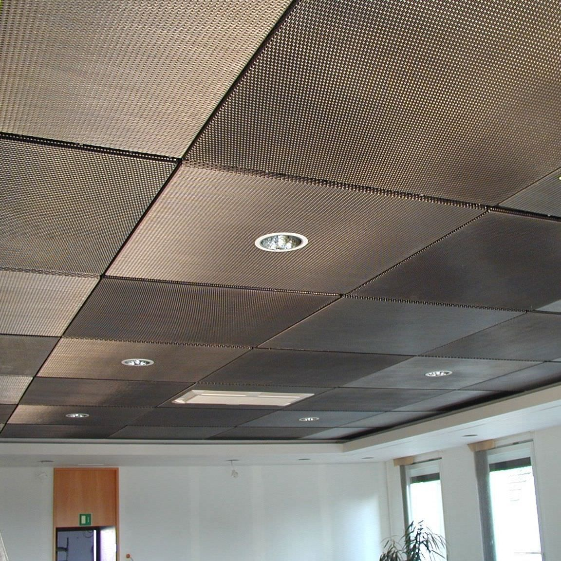 Acoustic Suspended Ceiling Stainless Steel Wire Mesh Egla Twin 4243 Haver Boecker Ohg