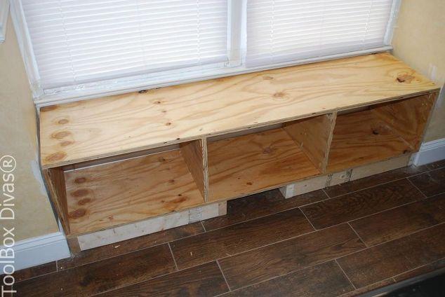 Diy Window Bench Seat With Drawer Storage Diy Storage Bench